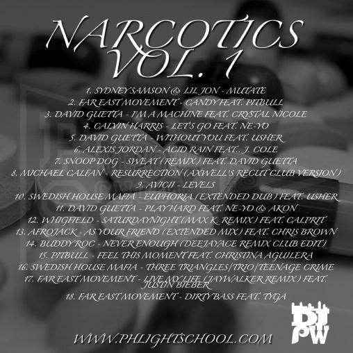 Narcotics Vol. 1 (TRACKLIST)